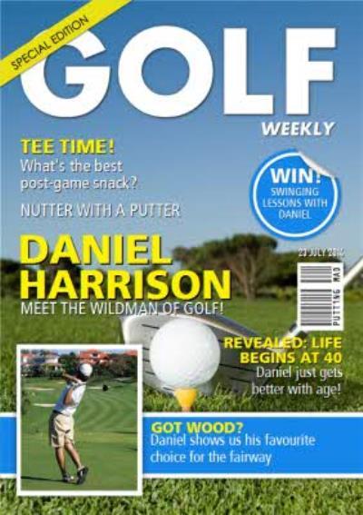 Golf Weekly Special Edition Spoof Magazine Happy Birthday Card