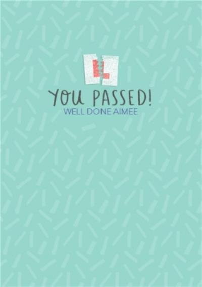 Passed Your Driving Test Personalised Card