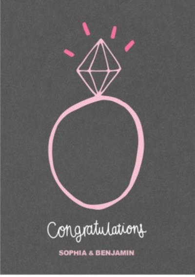 Congratulations Engagement Rock Personalised Card