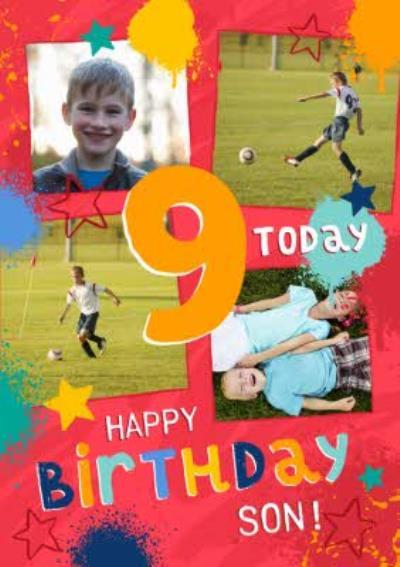 Studio Sundae 9 Today Happy Birthday Son Birthday Photo Upload Card
