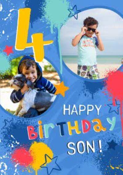 Studio Sundae 4 Today Happy Birthday Son Birthday Photo Upload Card