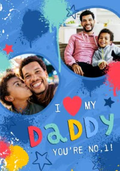 Studio Sundae I Love My Daddy Photo Upload Father's Day Card