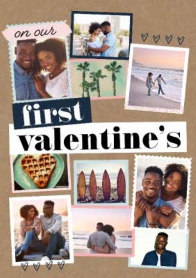 On Our First Valentine's Photo Upload Card