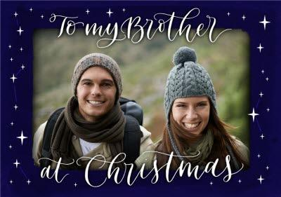 Constellations Brother Photo Upload Christmas Card