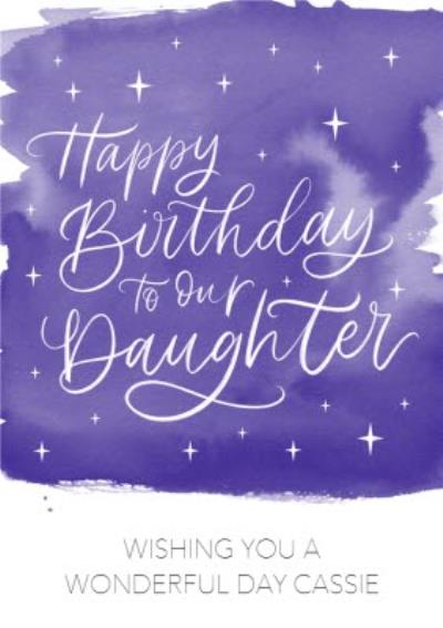 Starry Eyed Letters By Julia Purple Stars Daughter Birthday Card