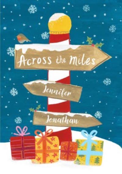 Christmas Card - Across The Miles - Illustration