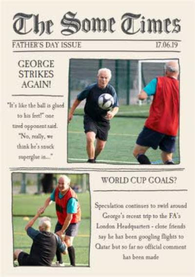 The Some Times Newspaper Spoof Happy Father's Day Photo Card