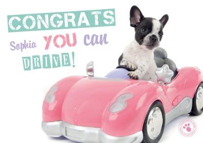 Congrats You Can Drive Personalised Card