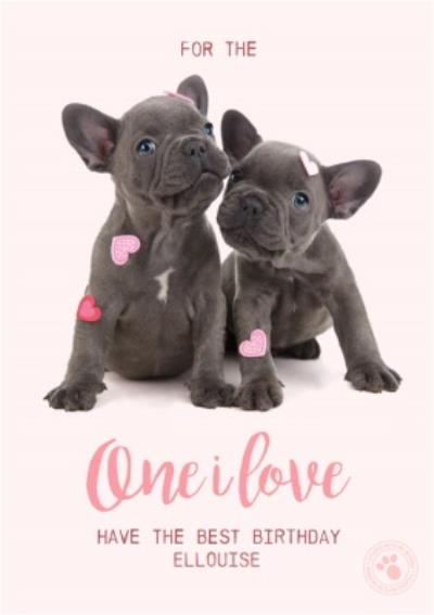 One I Love Have The Best Birthday Cute French Bulldogs Card