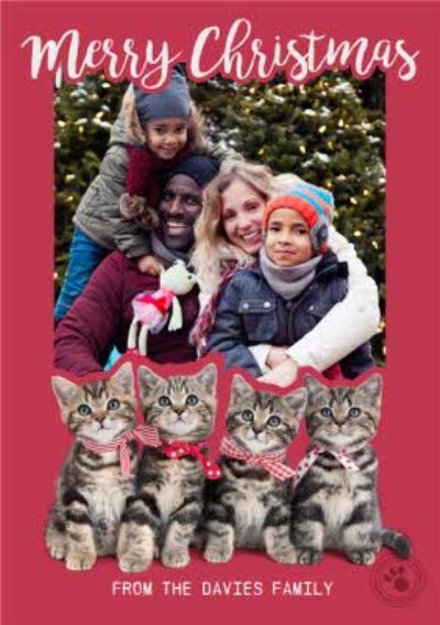 Studio Pets Merry Merry Christmas Photo Upload Card