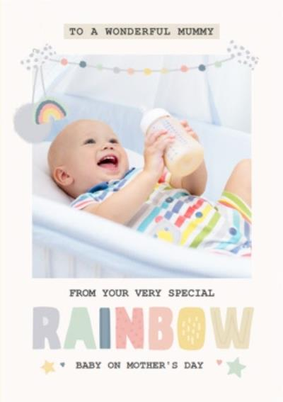 Rainbow Baby Photo Upload Mother's Day Card