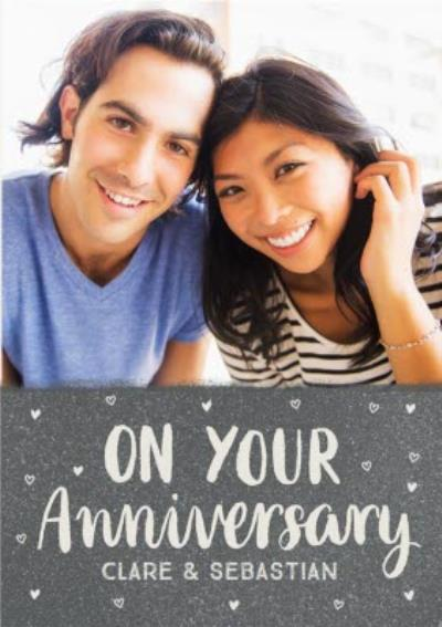 Sweet Sentiments On Your Anniversary Photo Upload Card
