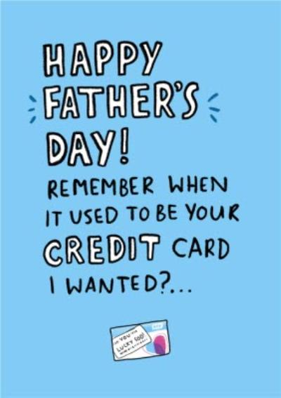Funny Covid Credit Card Father's Day Card