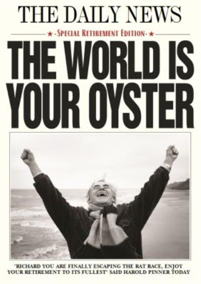 World Is Your Oyster Photo Retirement Card