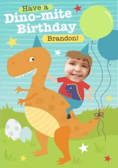 Have A Dino-Mite Birthday Photo Upload Card