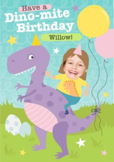 Have A Dino-Mite Birthday Personalised Card