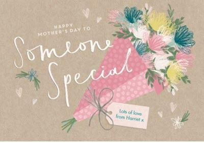 Mother's Day Card - someone special - bouquet of flowers