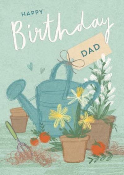 Floral- Happy Birthday card - DAD