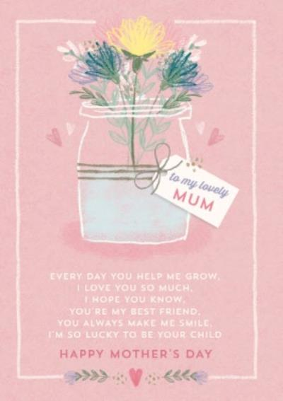 Sentimental To My Lovely Mum Personalised Mother's Day Card