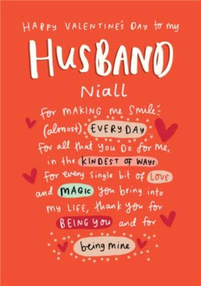 The Happy News Husband Love Valentines Day Card