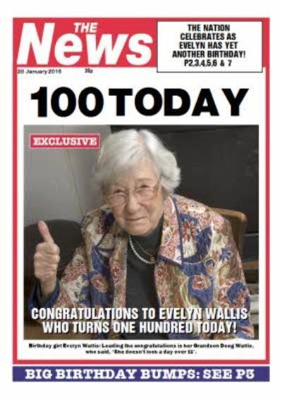 Newspaper Headline 100 Today Personalised Photo Upload Happy Birthday Card