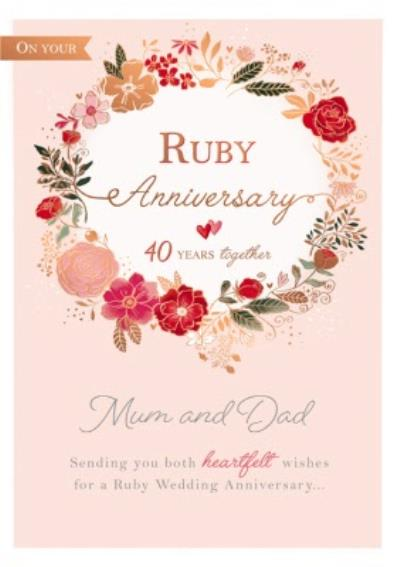 40 Years Together Anniversary Card