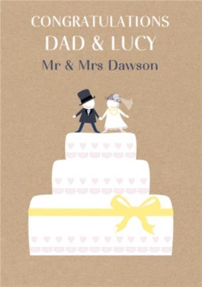 Congratulations on your Wedding Mr & Mrs Wedding Card