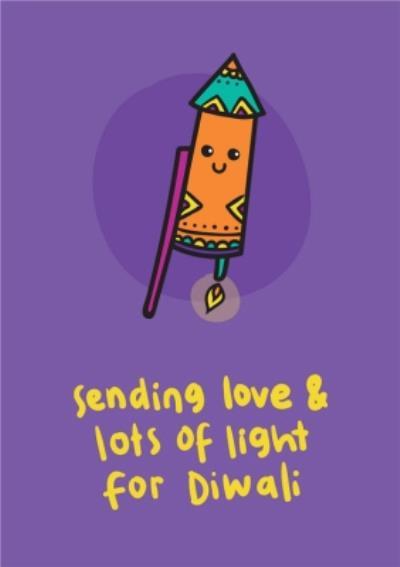 Sending Love and Lots Of Light For Diwali Firework Card