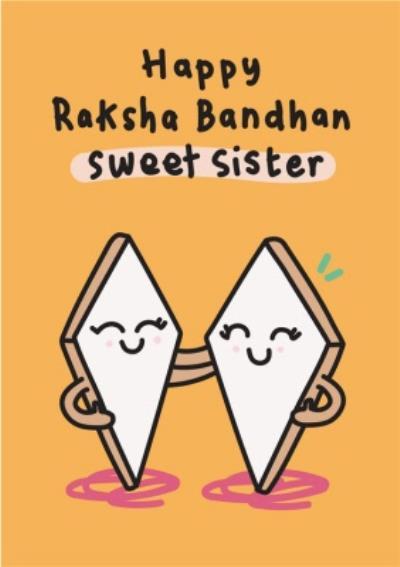 Happy Raksha Bandhan Sweet Sister Card