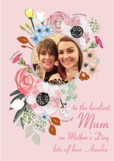 To The Loveliest Mum Photo Mother's Day Card
