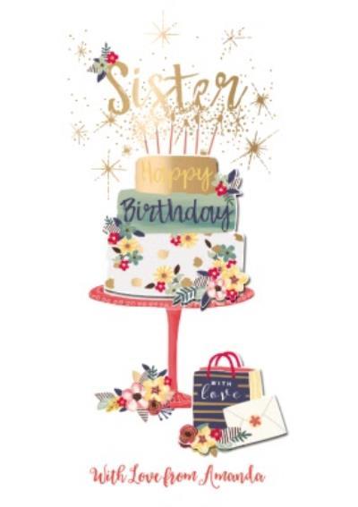 Birthday Card - Sister - Birthday Cake