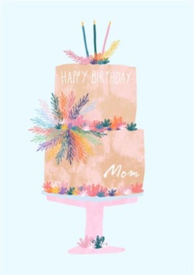 Female Birthday card - birthday cake - Mum