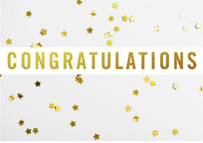 Congratulations card - Stars