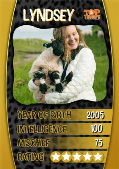 Top Trumps Photo Upload Birthday Card