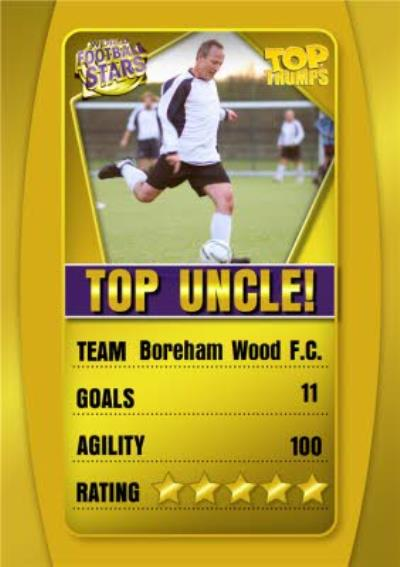 Top Trumps Top Uncle Photo Upload Birthday Card