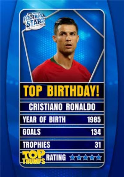 Top Trumps Top Birthday Football Birthday Card