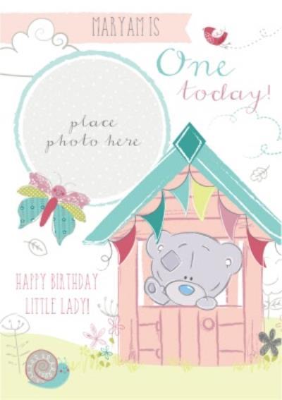 First Birthday Photo Card - Tatty Teddy