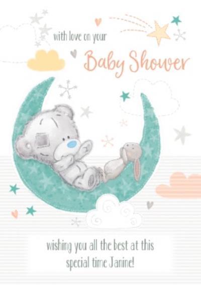 Tatty Teddy Best Wishes Baby Shower Card
