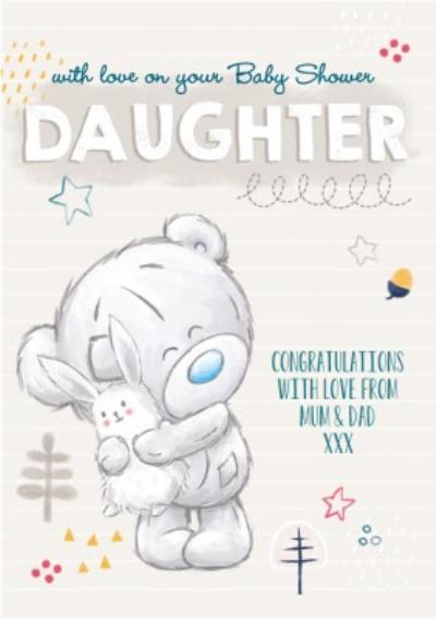 Tatty Teddy Baby Shower For Daughter Card