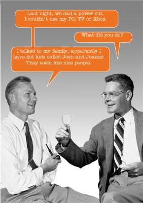 Retro Men Drinking Funny Caption Card