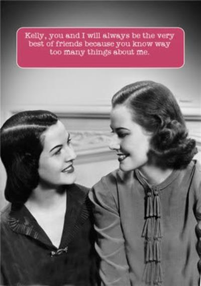 Old Fashioned Best Friends Funny Caption Card