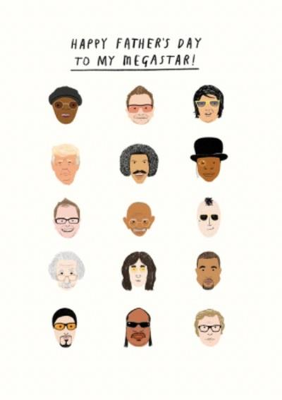 Pigment 20th Century Icons Megastar Father's Day Card