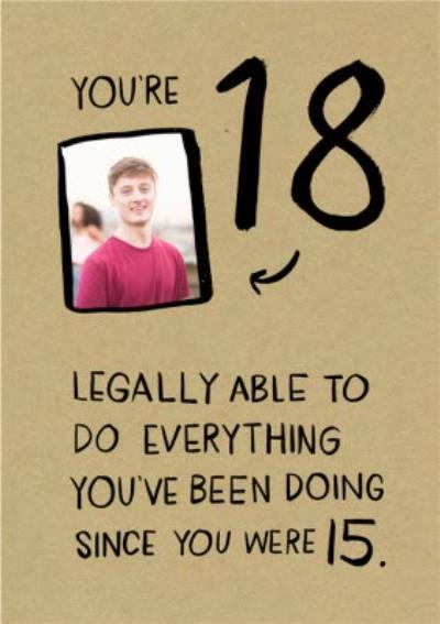 18 Birthday Photo Upload Card