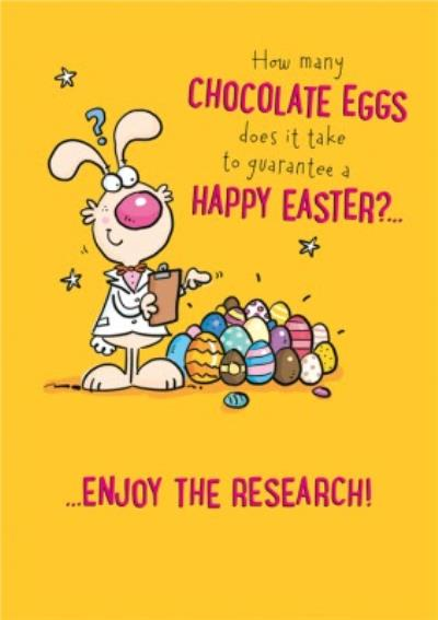 Funny How Many Chocolates Eggs Does It Take To Guarantee A Happy Easter Card