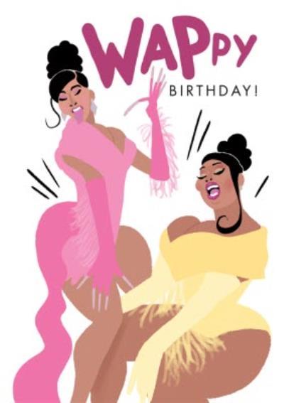 Illustrated Wappy Birthday Card