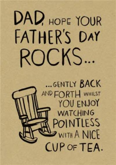 Dad Hope Your Father's Day Rocks Card