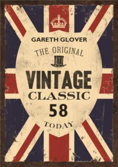 British The Original Vintage Classic Personalised Name Card