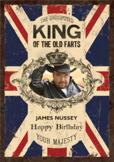Britains King Of Farts Photo Upload Card