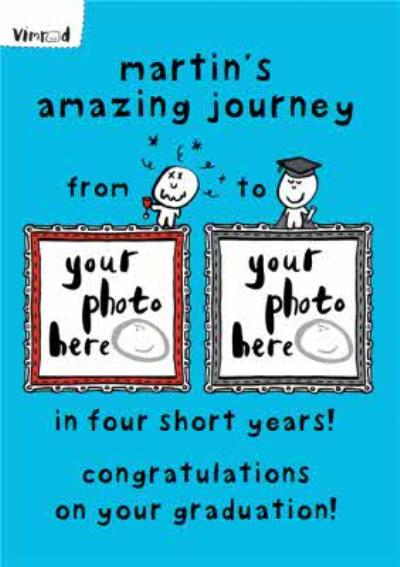 Amazing Journey Personalised Photo Upload Congratulations Graduation Card
