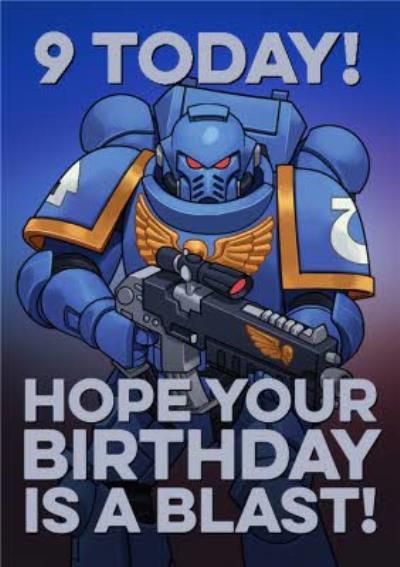 Warhammer Hope Your Birthday Is A Blast Birthday Card